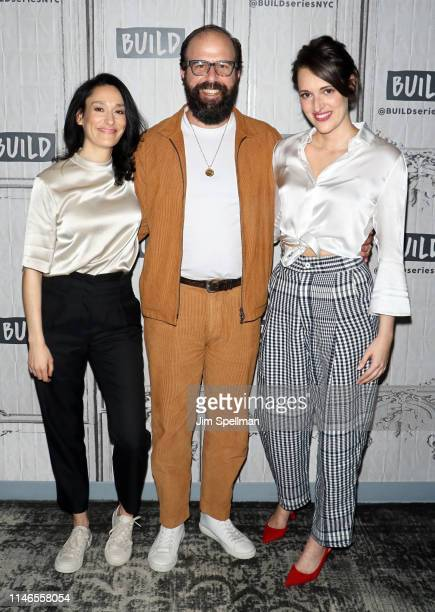 Actors Sian Clifford Brett Gelman and Phoebe WallerBridge attend the Build Series to discuss Fleabag at Build Studio on May 02 2019 in New York City