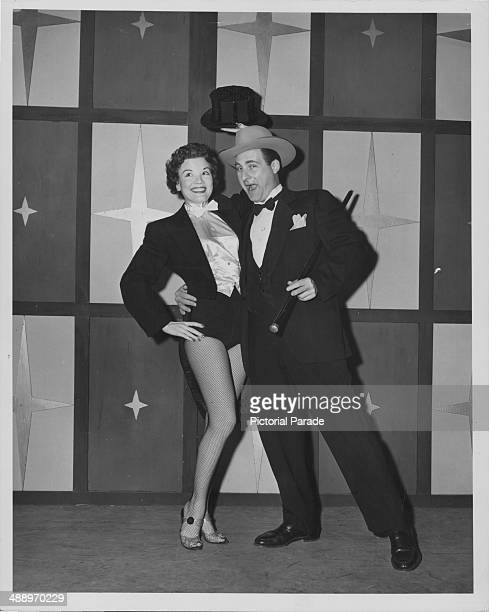 Actors Sid Caesar and Nanette Fabray in a dancing skit from the the television show 'Caesar's Hour' circa 19541957