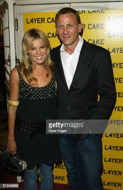 Actors Sienna Miller and Daniel Craig arrive at the UK Premiere of Layer Cake at The Electric Cinema Portobello Road on September 23 2004 in London