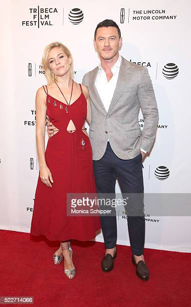 Actors Sienna Miller and Luke Evans attend HighRise Premiere 2016 Tribeca Film Festival at SVA Theatre 2 on April 20 2016 in New York City