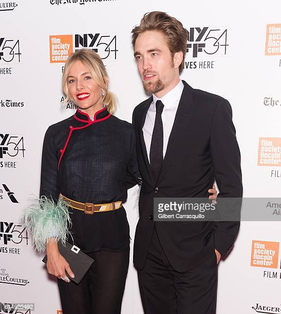 Actors Sienna Miller and Robert Pattinson attend the closing night screening of 'The Lost City Of Z' for the 54th New York Film Festival at Alice...