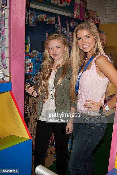 Actors Sierra McCormick and Alexandria DeBerry attend Mattel Party On The Pier Benefiting Mattel Children's Hospital UCLA Inside at Pacific Park –...
