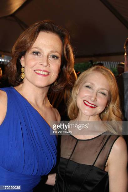Actors Sigourney Weaver and Patricia Clarkson attends The 67th Annual Tony Awards at Radio City Music Hall on June 9 2013 in New York City