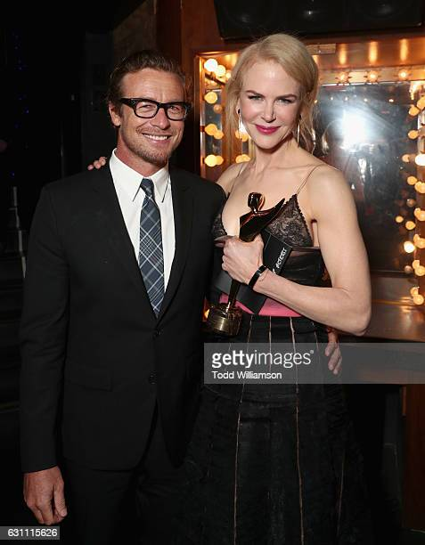 Actors Simon Baker and Nicole Kidman attend The 6th AACTA International Awards on January 6 2017 in Los Angeles California