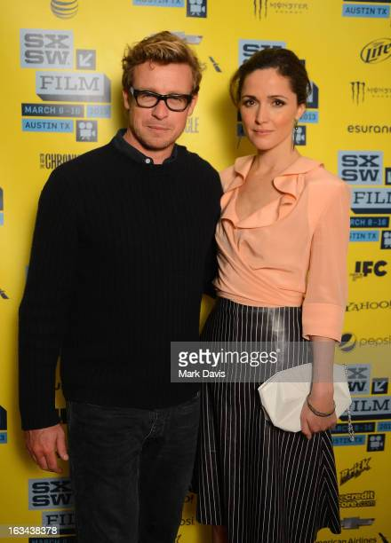 Actors Simon Baker and Rose Byrne attend the 'I Give It A Year' red carpet arrivals at the 2013 SXSW Music Film Interactive Festival held at the...