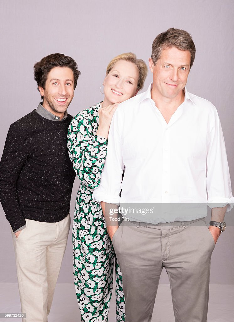 Actors Simon Helberg, Meryl Streep and Hugh Grant are photographed for USA Today on July 11, 2016 in New York City.