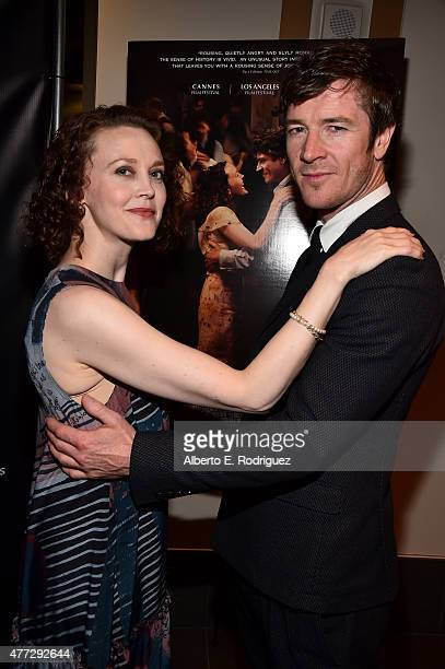 """Actors Simone Kirby and Barry Ward attend the """"Jimmy's Hall"""" screening during the 2015 Los Angeles Film Festival at Regal Cinemas L.A. Live on June..."""