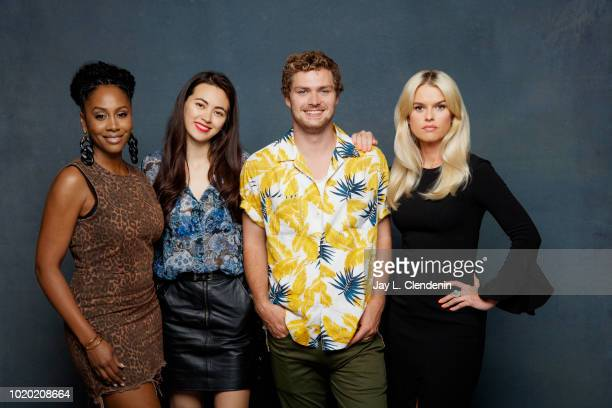 Actors Jessica Henwick Simone Missick Finn Jones and Alice Eve from 'Iron Fist' is photographed for Los Angeles Times on July 20 2018 in San Diego...