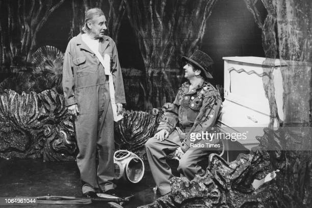 Actors Sinead Cusack and Alan Badel in a scene from the BBC Play of the Month 'Trilby' November 7th 1975