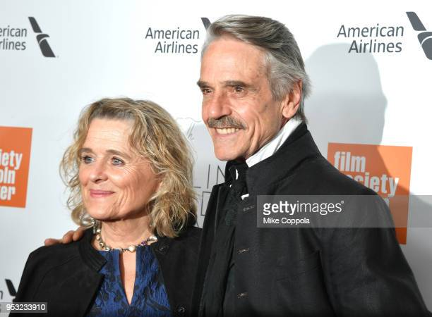 Actors Sinead Cusack and Jeremy Irons attend the 45th Chaplin Award Gala at Alice Tully Hall Lincoln Center on April 30 2018 in New York City