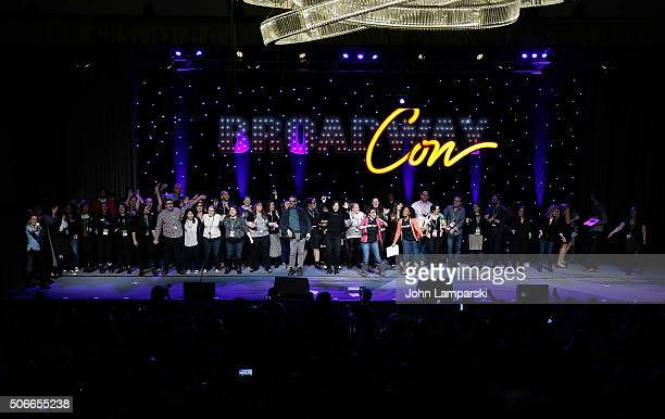 Actors Singers and staff attend BroadwayCon 2016 finale at Hilton Midtown on January 24 2016 in New York City