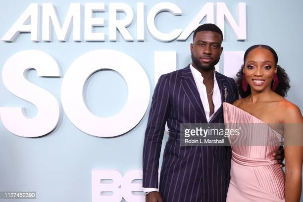 Actors Sinqua Walls and Iantha Richardson attend BET's American Soul Red Carpet at Wolf Theatre on February 04 2019 in North Hollywood California