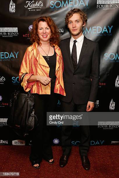 Actors Siobhan Fallon and Toby Regbo attend the 'Someday This Pain Will Be Useful To You' New York Screening at Village East Cinema on October 5 2012...