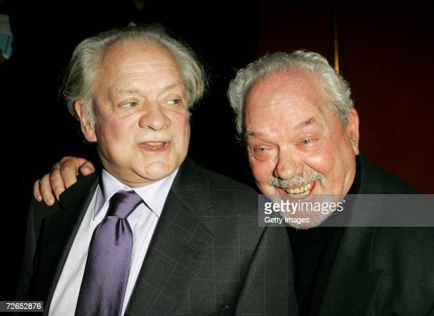 Actors Sir David Jason and his brother Arthur White arrive at the world television premiere of 'Hogfather' at the Curzon Mayfair on November 27 2006...