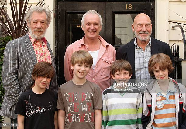 Actors Sir Ian McKellen and Patrick Stewart along with Director Sean Mathias are joined by George Sear Richard Linnell Sam Walton and Tom Barker who...