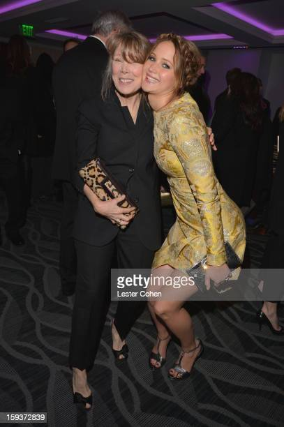 Actors Sissy Spacek and Jennifer Lawrence attend the 38th Annual Los Angeles Film Critics Association Awards at InterContinental Hotel on January 12...