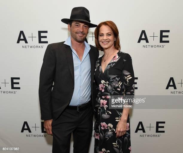 Actors Skeet Ulrich and Deirdre Lovejoy of 'I Am Elizabeth Smart' at the A+E Networks portion of the 2017 Summer Television Critics Association Press...