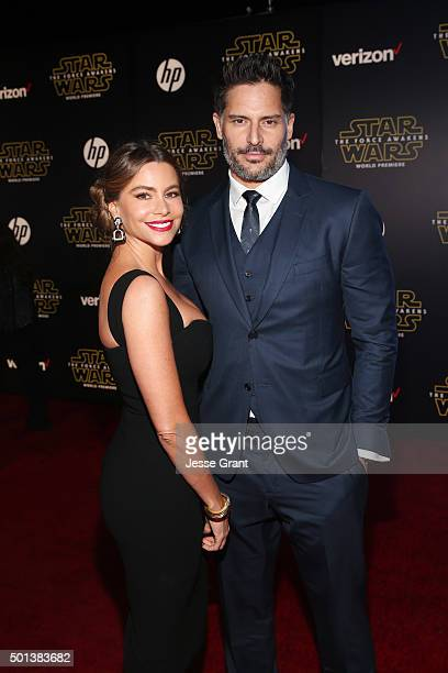 "Actors Sofía Vergara and Joe Manganiello attend the World Premiere of ""Star Wars The Force Awakens"" at the Dolby El Capitan and TCL Theatres on..."