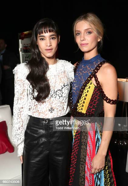 Actors Sofia Boutella and Annabelle Wallis at CinemaCon 2017 Universal Pictures Invites You to a Special Presentation Featuring Footage from its...
