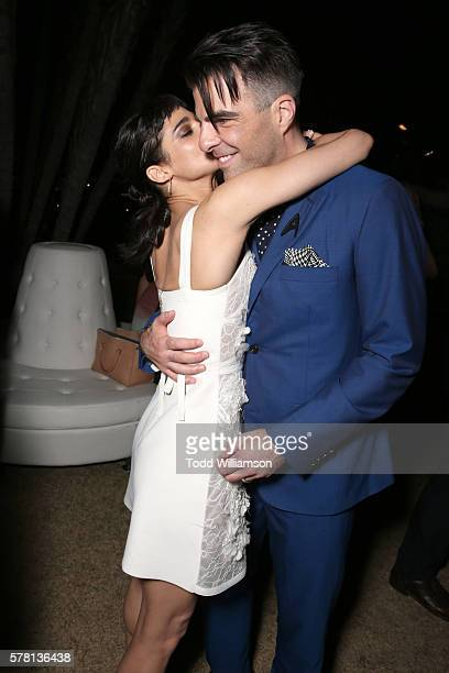 Actors Sofia Boutella and Zachary Quinto attend the premiere of Paramount Pictures' 'Star Trek Beyond' at Embarcadero Marina Park South on July 20...