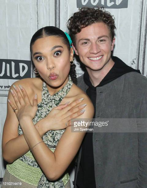 Actors Sofia Bryant and Richard Ellis attend the Build Series to discuss I Am Not Okay with This at Build Studio on March 03 2020 in New York City