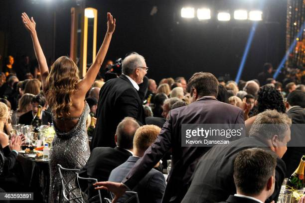Actors Sofia Vergara and Ed O'Neill in the audience during the 20th Annual Screen Actors Guild Awards at The Shrine Auditorium on January 18 2014 in...