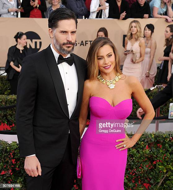 Actors Sofia Vergara and Joe Manganiello arrive at the 22nd Annual Screen Actors Guild Awards at The Shrine Auditorium on January 30 2016 in Los...