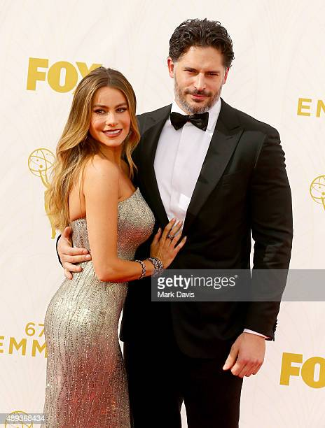 Actors Sofia Vergara and Joe Manganiello attend the 67th Annual Primetime Emmy Awards at Microsoft Theater on September 20 2015 in Los Angeles...