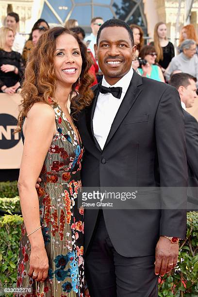 Actors Sondra Spriggs and Mykelti Williamson attend the 23rd Annual Screen Actors Guild Awards at The Shrine Expo Hall on January 29 2017 in Los...