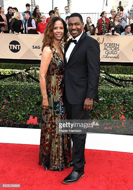 Actors Sondra Spriggs and Mykelti Williamson attend The 23rd Annual Screen Actors Guild Awards at The Shrine Auditorium on January 29 2017 in Los...