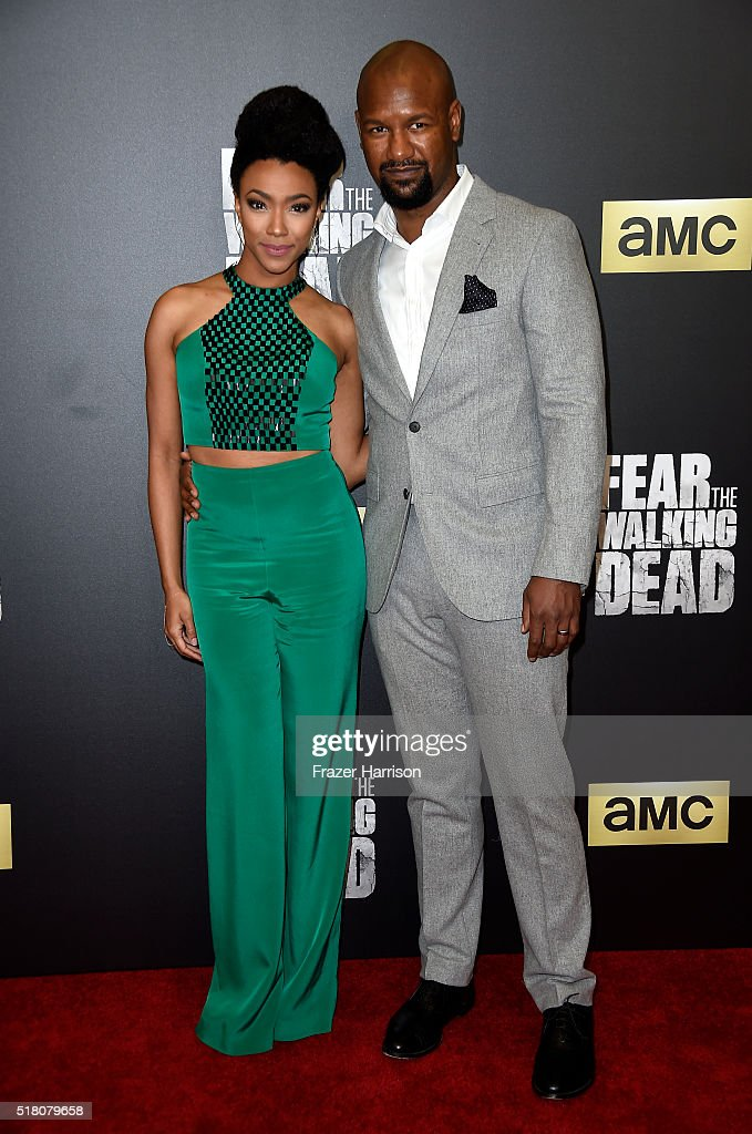 Actors Sonequa Martin-Green (L) and Kenric Green attend attend the premiere of AMC's 'Fear The Walking Dead' Season 2 at Cinemark Playa Vista on March 29, 2016 in Los Angeles, California.