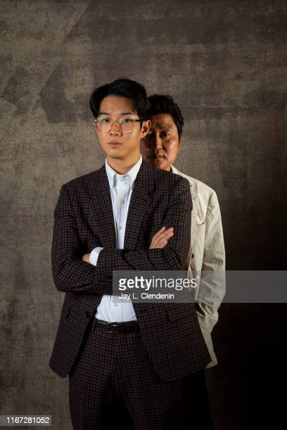 Actors Song Kang Ho and Choi Wooshik from 'Parasite' are photographed for Los Angeles Times on September 7 2019 at the Toronto International Film...