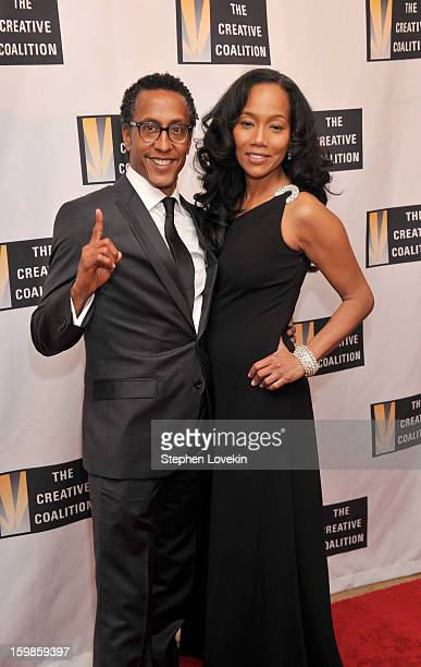 Actors Sonja Sohn and Andre Royo attend The Creative Coalition's 2013 Inaugural Ball at the Harman Center for the Arts on January 21 2013 in...