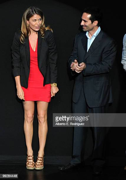 Actors Sonya Walger and Nestor Carbonell attend ABC's Lost Live The Final Celebration held at UCLA Royce Hall on May 13 2010 in Los Angeles California