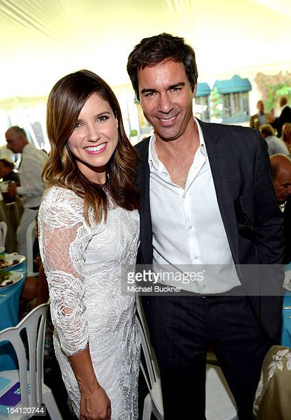 Actors Sophia Bush and Eric McCormack attend the Rape Treatment Center Brunch honoring Norman Lear hosted by Viola Davis at Green Acres Estate on...