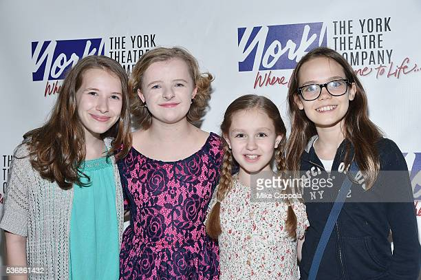 Actors Sophia Gennusa Milly Shapiro Mimi Ryder and Oona Laurence attend You're A Good Man Charlie Brown Opening Night After Party at Dylan's Candy...