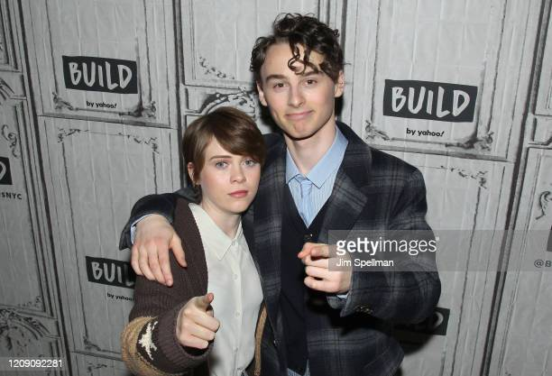 Actors Sophia Lillis and Wyatt Oleff attend the Build Series to discuss I Am Not Okay with This at Build Studio on February 27 2020 in New York City