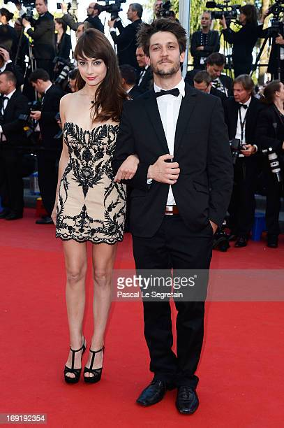 Actors Sophie Desmarais and JeanSebastien Courchesne attend the 'Cleopatra' premiere during The 66th Annual Cannes Film Festival at The 60th...