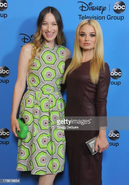 Actors Sophie Lowe and Emma Rigby arrive at the 2013 Disney/ABC Television Critics Association's summer press tour party at The Beverly Hilton Hotel...