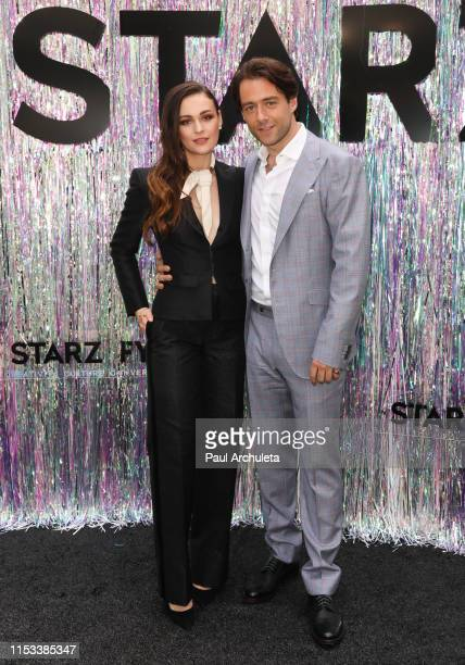 Actors Sophie Skelton and Richard Rankin attend the Starz FYC Day at The Atrium at Westfield Century City on June 02, 2019 in Los Angeles, California.