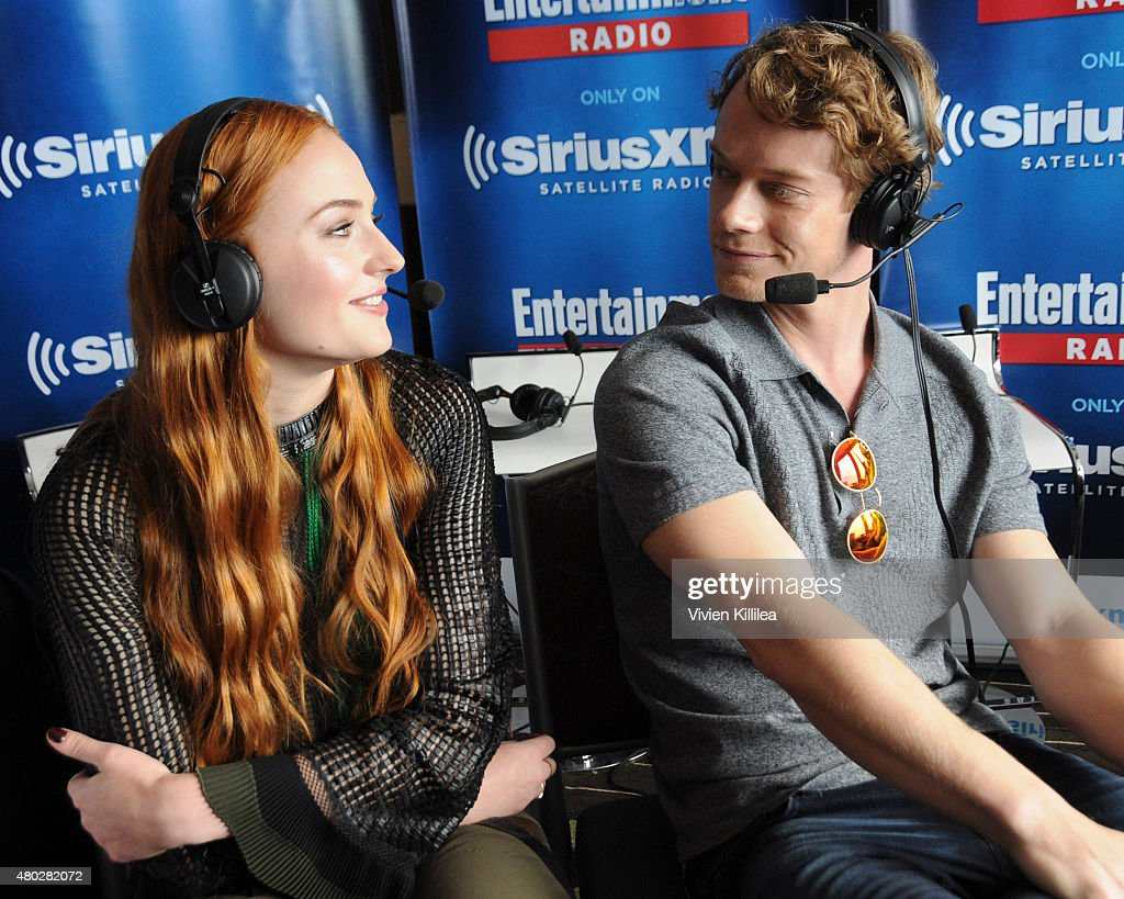 Actors Sophie Turner and Alfie Allen attend SiriusXM's Entertainment Weekly Radio Channel Broadcasts From Comic-Con 2015 at Hard Rock Hotel San Diego on July 10, 2015 in San Diego, California.