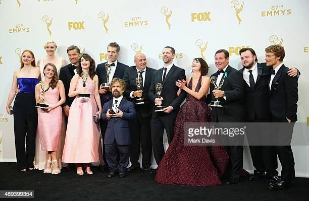 Actors Sophie Turner Gwendoline Christie Maisie Williams Nikolaj CosterWaldau Carice van Houten writer/director David Benioff actors Peter Dinklage...