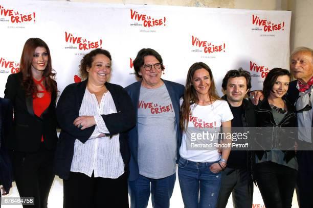 Actors Sophie Vouzelaud Isabelle de Hertogh Director JeanFrancois Davy Emmanuelle Boidron Franck Molinaro Amel Annoga and Venantino Venantini attend...