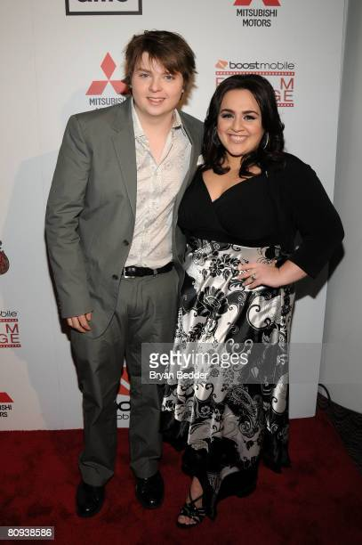 Actors Spencer Breslin and Nikki Blonsky arrives at the premiere of Harold at the 62nd and Broadway Cinema on April 30 2008 in New York City