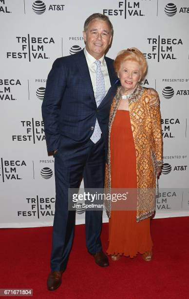 Actors Spencer Garrett and Kathleen Nolan attend the Dog Years screening during the 2017 Tribeca Film Festival at Cinepolis Chelsea on April 22 2017...