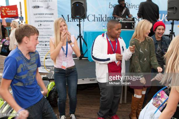 Actors Spencer List Alexandria DeBerry Alex Jones and Olivia Holt attend Mattel Party On The Pier Benefiting Mattel Children's Hospital UCLA Inside...