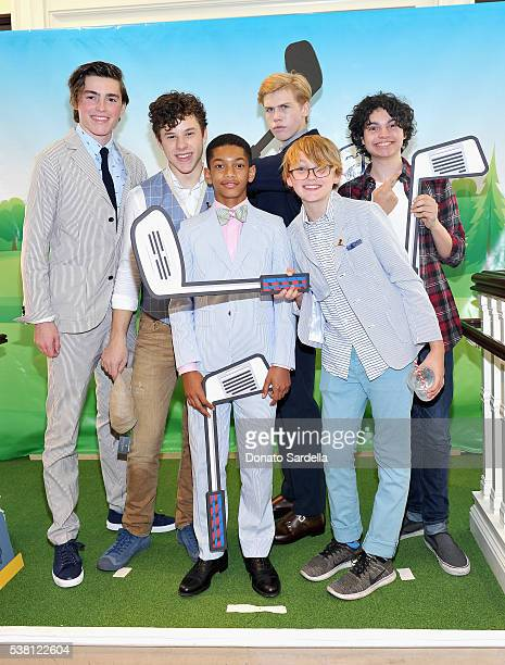 Actors Spencer List Nolan Gould Sayeed Shahidi Aidan Alexander Phoenix List and Max Burkholder attend Brooks Brothers Mini Classic to Benefit St Jude...