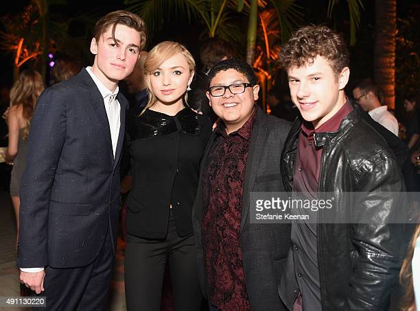 Actors Spencer List Peyton List Rico Rodriguez and Nolan Gould attend Teen Vogue Celebrates the 13th Annual Young Hollywood Issue with Emporio Armani...
