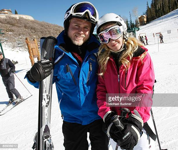 Actors Spencer Pratt and actress Heidi Montag participates in the Pro/Am Ski Tournament at Juma Entertainment's 17th Annual Deer Valley Celebrity...