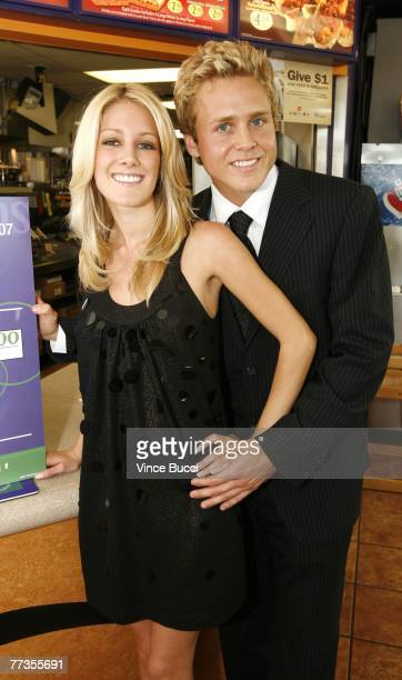 Actors Spencer Pratt and Heidi Montag attend a press conference announcing Taco Bell's efforts to raise awareness in suport of World Hunger Relief...